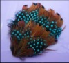 Lady's Pad-Blue/Ochre feathers for Hairpin/Hats hot sell-G019