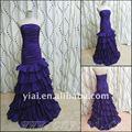 sirena pp2535 púrpura de noche las damas vestidos occidentales púrpura vestido de noche