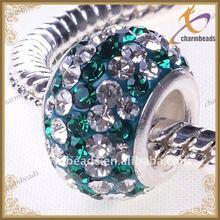 High quality jewelry single silver core europe murano glass bead wholesale C00080
