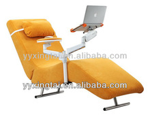 2013 Brush Fleece MDF material office and computer chair with Adjustable laptop holder