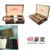 6 bottle pu leather wine case with wine accessories