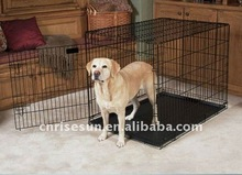 black metal dog cage with two doors( 100% stainless steel construction)