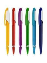 Plastic logo pen,promotion pen with matel clip 740