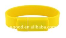 yellow silicone bracelet usb flash memory drive