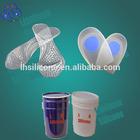 transparent safe liquid rtv2 silicon for footcare insoles
