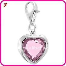 fashion crystal heart charm valentine day gift (H100341)