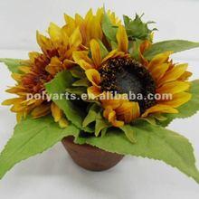 flower arrangement silk sunflower with pot