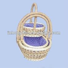 HONGDAO High quality wicker baby gift basket-WFB2207