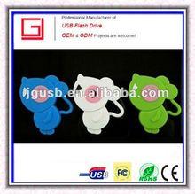 Hot!!! Shenzhen Wholesale Custom OEM Cartoon Animal USB pen drive bulk cheap fromk China