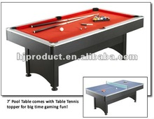 top grade different color and size 2 in 1 game table