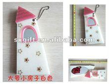 Portable mini acrylic mirror, house shape
