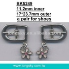 charm added belt buckles for boots (#BK5249/11.2mm inner)