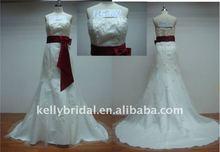 Good Tulle,Nice Belt,Elegant Best Selling real picture wedding dress
