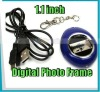 "1.1"" LCD plastic Digital Photo Frame Keychain gift Carry"
