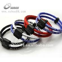 Titanium negative ion engery balance sport bracelet for 2012