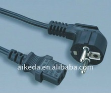 Power Cable europe connectors germany style plug cord mains lead vde