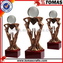 New design custom sexy bronze lady statue