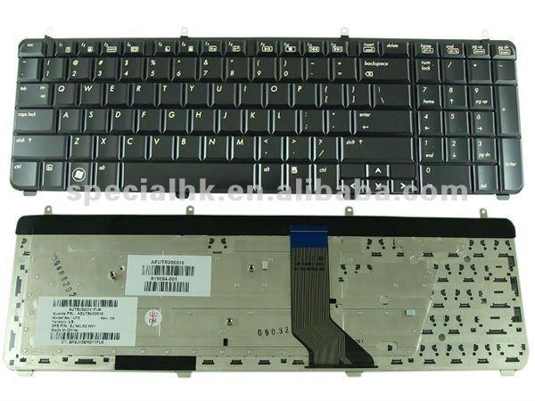 Teclado genuino del ordenador portátil para HP DV7-2000 DV7-3000 AEUT5U00010