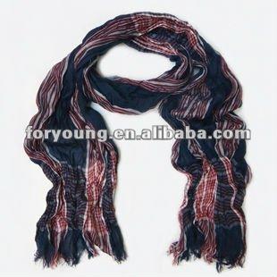 plisado tela del poliester bufanda de nuevo diseño