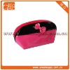 Cute red small girls toiletry PU makeup bag