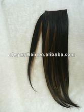 Straight 20 inch human hair ponytail,wrap around style