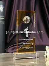 Agradável de cristal golf prêmio para confirmação lembranças