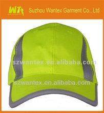 High quality HIGH VISIBILITY YELLOW waterproof REFLECTIVE BASEBALL CAPS