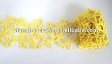 2015 popular ribbon lace craft, ribbon felt for scrapbooking