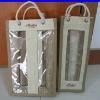 Double wine bottle jute shopping bag