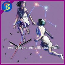 Gemini of the zodiac star glass wall clock