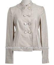 Modern lady leather jacket white blazer for women 2012
