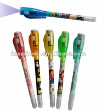 double heads uv pen with ballpen with light CH-0826