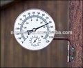 """Alta qualidade instrumento de medição 6.5"""" brass termômetro de parede"""