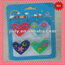 2014 LOVELY COLORFUL HEART ERASER FOR IDEAL VALENTINE GIFT
