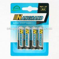 Zinc carbon r6p aa battery um3