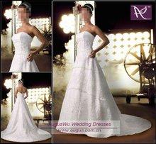 AWM-070 Fancy Lace Top Wedding Dress Gown 2014