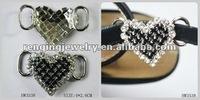 2012 fashion Peach heart lady shoe buckle