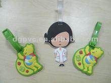2012 OEM pvc bag tag silicone pvc material manufacture 1229