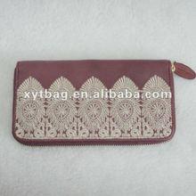 Dark red high-grade ladies's wallets