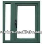 Sendpro brand green color aluminium window/cheap house windows for sale