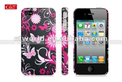 Flowers Pattern Hard Case Back Cover Skin For iPhone 4 4S