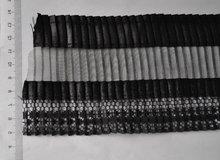 LACE-E0154 Black lace /Black fold lace fabric