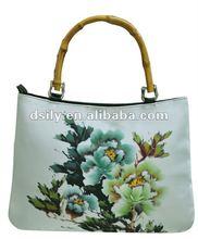 Elegant Ladies Handbag, Printed Flower Fashion Tote Bag, D681A110043