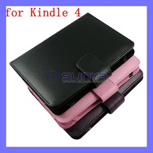 Leather Pouch Bag ebook Cover For Kindle 4 4th