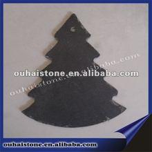 100% natural slate art with Christmas tree shape