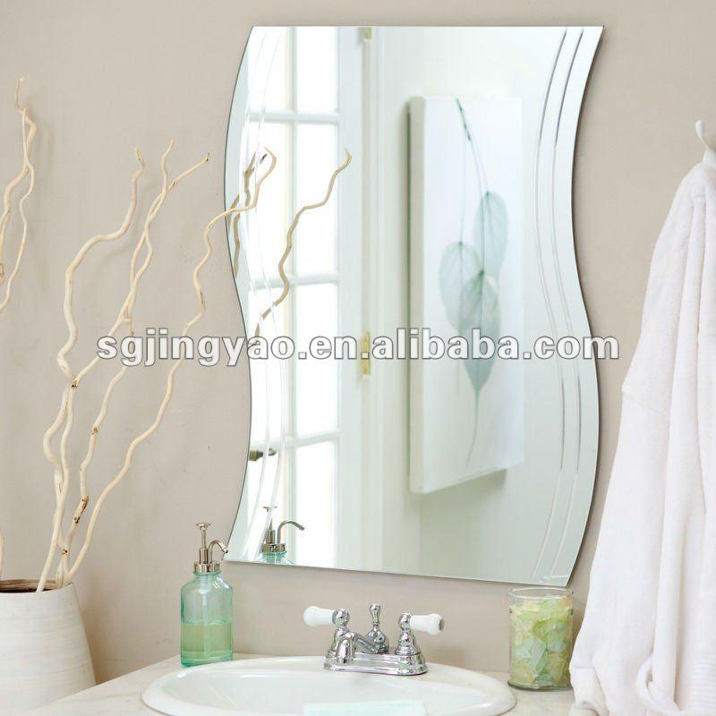 specchio a onda da muro : onda senza cornice specchio da parete-Specchio-Id prodotto:523739070 ...