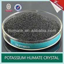 Leonardite Organic Fertilizer 85% Potassium Humate Crystal For Soil Conditioner
