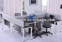 4 seats modern office workstation desk W002