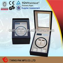 WW-8002AL Cheap wooden handmade 2+3 storage rotating dial watch box wholesale