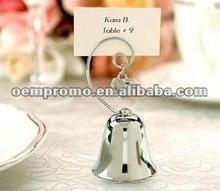 Heart Shape Silver Bell Place Card Holder Wedding Favor, Wedding Decoration bell
